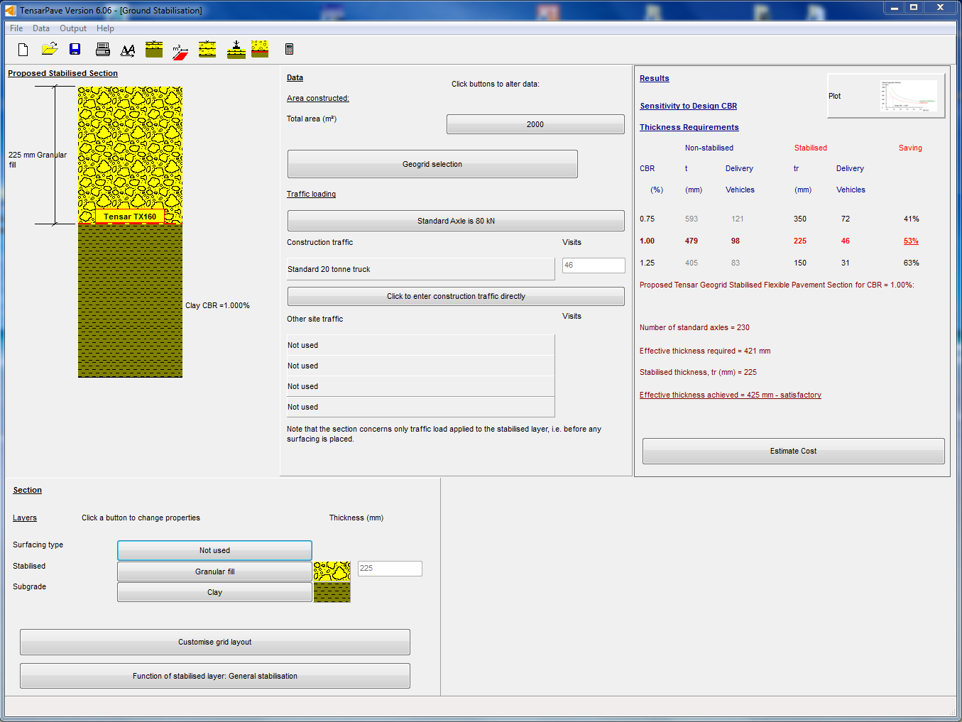Software TensarPave
